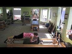 Pilates inspired exercises performed using no springs on the Reformer.