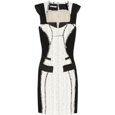 Antonio Berardi Bouclé-tweed and crepe dress ($954) ❤ liked on Polyvore