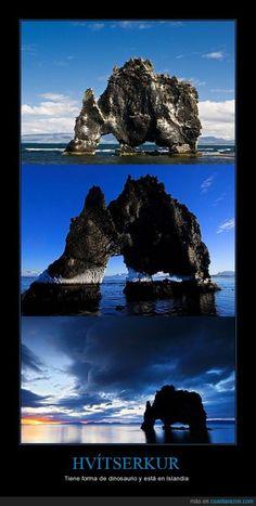 HVÍTSERKUR - Tiene forma de dinosaurio y está en Islandia