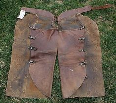 Antique-Miles-City-Saddlery-Batwing-Chaps-Studded-_1.jpg (400×355)