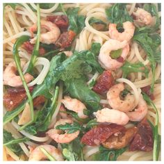 So good pasta with shrimps!