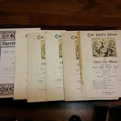 I recently received a whole wack of music from a 94 year old. In it I found 6 copies of the Lord's prayer. Why she had 6 of them I have no idea. Five of them are up for grabs. Hit me up if your are local and need a copy. Warning they are pretty old #sheetmusic #antiques #antique #6 #holycrap #holy #god #music #musicians #musicislife #musiciansofinstagram #musica #piano #church by blueredraven