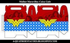 Kit festa infantil mulher maravilha, completo gratuito Wonder Woman, Print And Cut, Silhouette, Templates, Superhero, Birthday, Party, Women, Wonder Woman Birthday