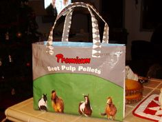 Feed Bag purses!   All your friends will want one! lol