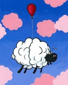 Cloud Sheep Giclee Print Set by joehavasy on Etsy, $30.00