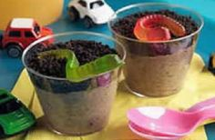 """Dirt Cups - Perfect for my unit on """"How to Eat Fried Worms"""""""
