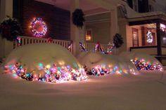 Snow on Christmas Lights, Maryland