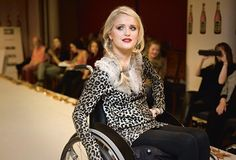 disabled model at fashion show. >>> See it. Believe it. Do it. Watch thousands of spinal cord injury videos at SPINALpedia.com