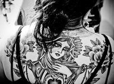 #mary #roses #back #tattoo