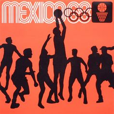 Mexico 68 by Lance Wyman Olympic Basketball, Olympic Games, Basketball Posters, Mexico Olympics, Summer Olympics, 1968 Olympics, Mexico 68, Mexico City, Lance Wyman