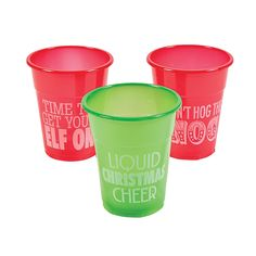 Humorous+Christmas+Disposable+Cups+-+OrientalTrading.com