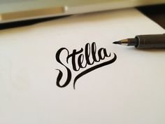 Lettering with a Zebra Disposable Brush Pen — get the fine and super fine.