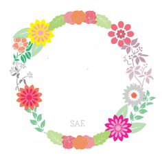 My first floral circle design.