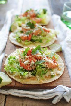 Buffalo Shrimp Tostadas #shrimp #buffalosauce #healthy