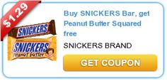 *HOT* Buy 1 Get 1 FREE Snickers Bar Coupon = Only $0.34 each! - Raining Hot Coupons
