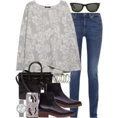 Untitled #3265 by hellomissapple on Polyvore featuring MANGO, MiH Jeans, Zara, Yves Saint Laurent, Marc by Marc Jacobs, H&M and Ray-Ban