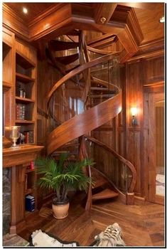 a very cool and amazing special design from tiny house decor for creative design your modern farmhouse Tiny House Design, Wood House Design, Cabin Design, Staircase Design, Modern Staircase, Stair Design, Wood Staircase, Dream Rooms, My Dream Home
