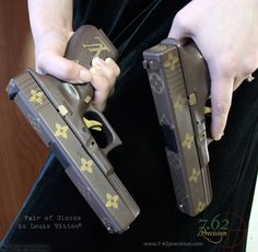 Louis Vitton DuraCoat Glock Pistols. This site is awesome! Whenever I get one I'm definitely making my gun pretty =)