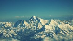 Preview wallpaper everest, mountain, sky, tops 1366x768