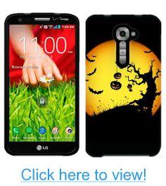 Verizon LG G2 Halloween Moon on Black Phone Case Cover
