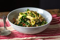 Stir-Fried Brown Rice With Red Chard and Carrots Recipe - NYT Cooking