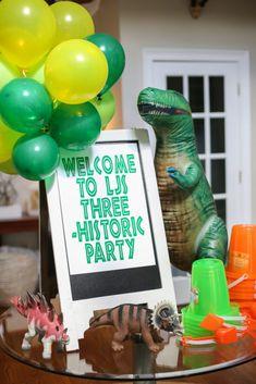 THREE-historic Dinosaur Birthday Party LJ Bower Power-8