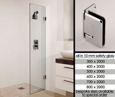 Wet Room Screen With Hinged Deflector