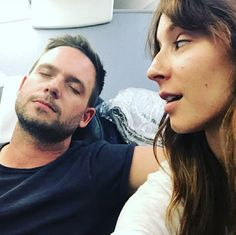 Troian & Patrick coming home from The Royal Wedding! Pretty Little Liars Characters, Patrick J Adams, Keegan Allen, Troian Bellisario, Spencer Hastings, Dearly Beloved, Coming Home, Celebs, Celebrities