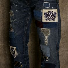 Fall 2012 Rugby jeans patched destroyed