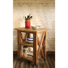 Kitchen Island Made From Reclaimed Wood Kitchen Furniture Small Table... ($359) ❤ liked on Polyvore featuring home, furniture, storage & shelves, sideboards, grey, home & living, kitchen & dining, recycled wood furniture, farmhouse furniture and country style furniture
