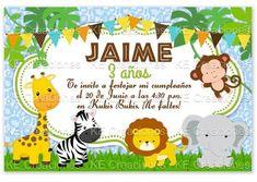 Invitacion Kit Imprimible Jungla Safari Baby Shower Zebra ...