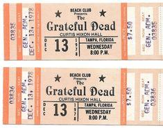 Grateful Dead Concert Ticket Piece Of Music, Concert Tickets, Better One, Grateful Dead, The Fool, Hard Rock, Rock Bands, Stock Photos, Nice