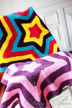 Crochet star blankets.