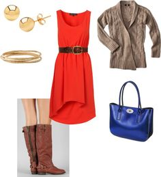 """fall dress"" by mziel16 on Polyvore"