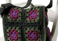 Learn how to make this granny square bag patterns in our free eBook on how to make a granny square and patterns.