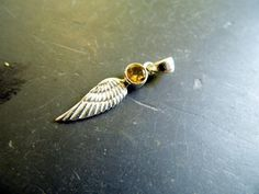 Anhänger, Silber, Flügel,klein Engel, Citrin, Schmuck, gelb von WaltrautvonRoda auf Etsy