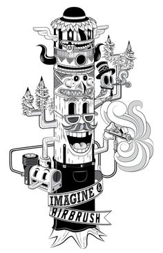 Imagine & Airbrush by Juanjo D Esparza, via Behance