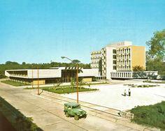 Clinica Hospital del IMSS (hoy Hospital General del IMSS, Zona 1), Coatancito 20, Centro, Tapachula, Chiapas, México 1966 Arq. Joaquín Sánchez Hidalgo. IMSS Clinca Hospital (today, IMSS Genral...