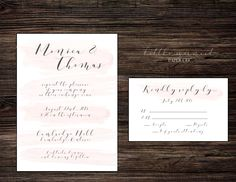 Printable Wedding Invitations, Pink Watercolor, Papers Co, Paper Texture, Wedding Suits, The Little Mermaid, Letterpress