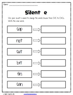Phonics- Magic E / Long Vowel Silent E activities with