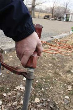A frost free yard hydrant that is dripping calls for a quick hydrant repaired quickly before it freezes. Often a yard hydrant repair involves replacing the broken seal that is causing the leak.: Re-Install The Hydrant