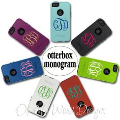IPhone Monogram Decal by OhMyWordDesigns on Etsy, $5.50