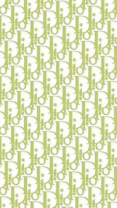 Dior Green wallpaper