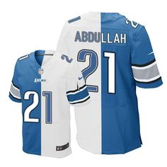 c58dcc1b Packers Bart Starr jersey Nike Lions #21 Ameer Abdullah Blue/White Men's  Stitched NFL