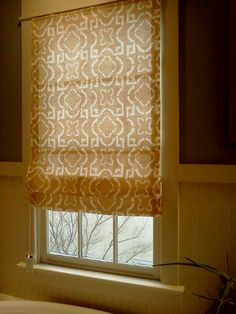How to make Roman shades with cheap blinds and no sewing...so easy! Follow the steps...I skipped some and wish I would have done it exact, but LOVE them! I used black out curtains & the boys room is BLACK with them down...no gaps or llight spots!!!