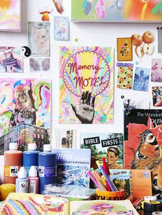 The appropriately colourful Collingwood studio of Minna Gilligan. Photo – Eve Wilson. Production- Lucy Feagins for thedesignfiles.net