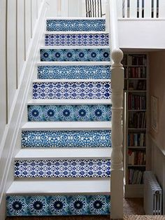 Photo: Courtesy Etsy/Bleucoin | thisoldhouse.com | from Dress Up Stair Risers With Vinyl Decals