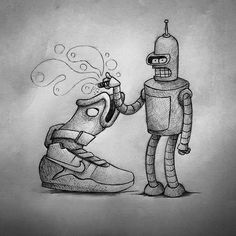 Guido Vitabile - Futurama - illustration - #inktober #inktober2015 #inktobersonry #massoneriacreativa - www.massoneriacreativa.com