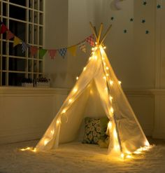 DeceStar Teepee Tent for Kids - 100% Natural Cotton Canvas Play Tent for Kids - Come with Mattress and Carrying Bag: Amazon.co.uk: Toys & Games