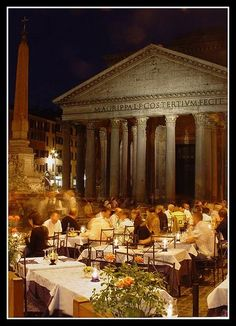 This would be so amazing! Dining Al Fresco,Rome,It...
